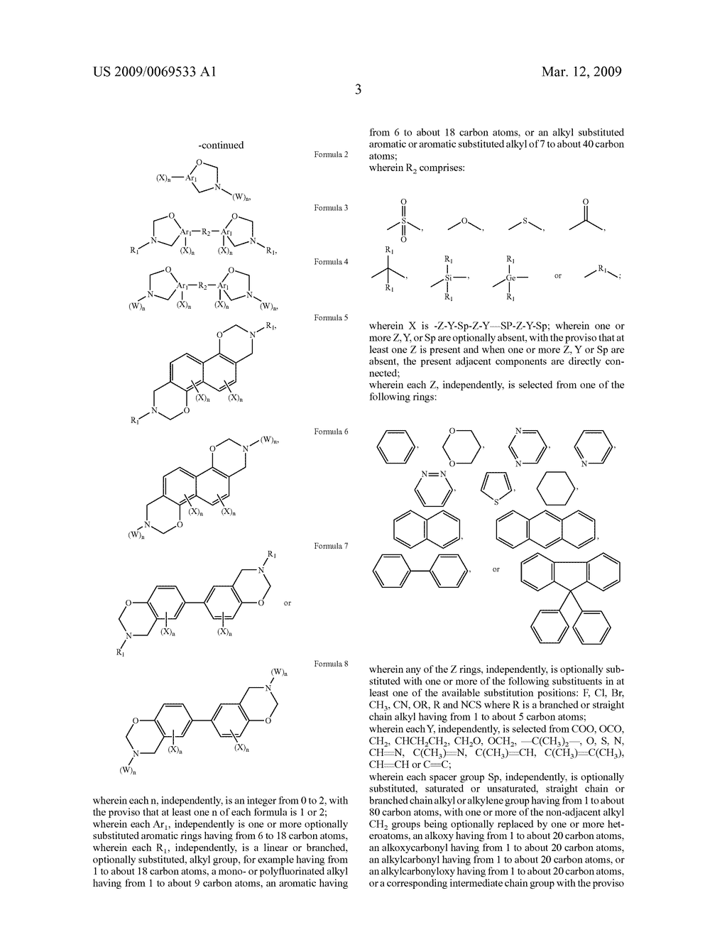 Benzoxazine monomers, polymers and compositions - diagram, schematic, and image 05