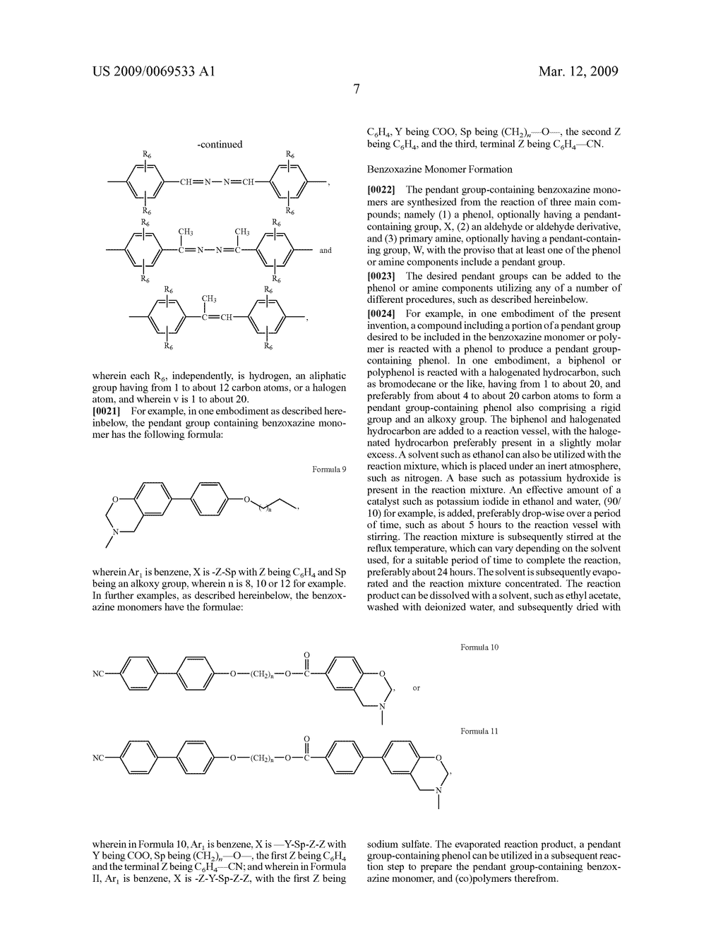 Benzoxazine monomers, polymers and compositions - diagram, schematic, and image 09