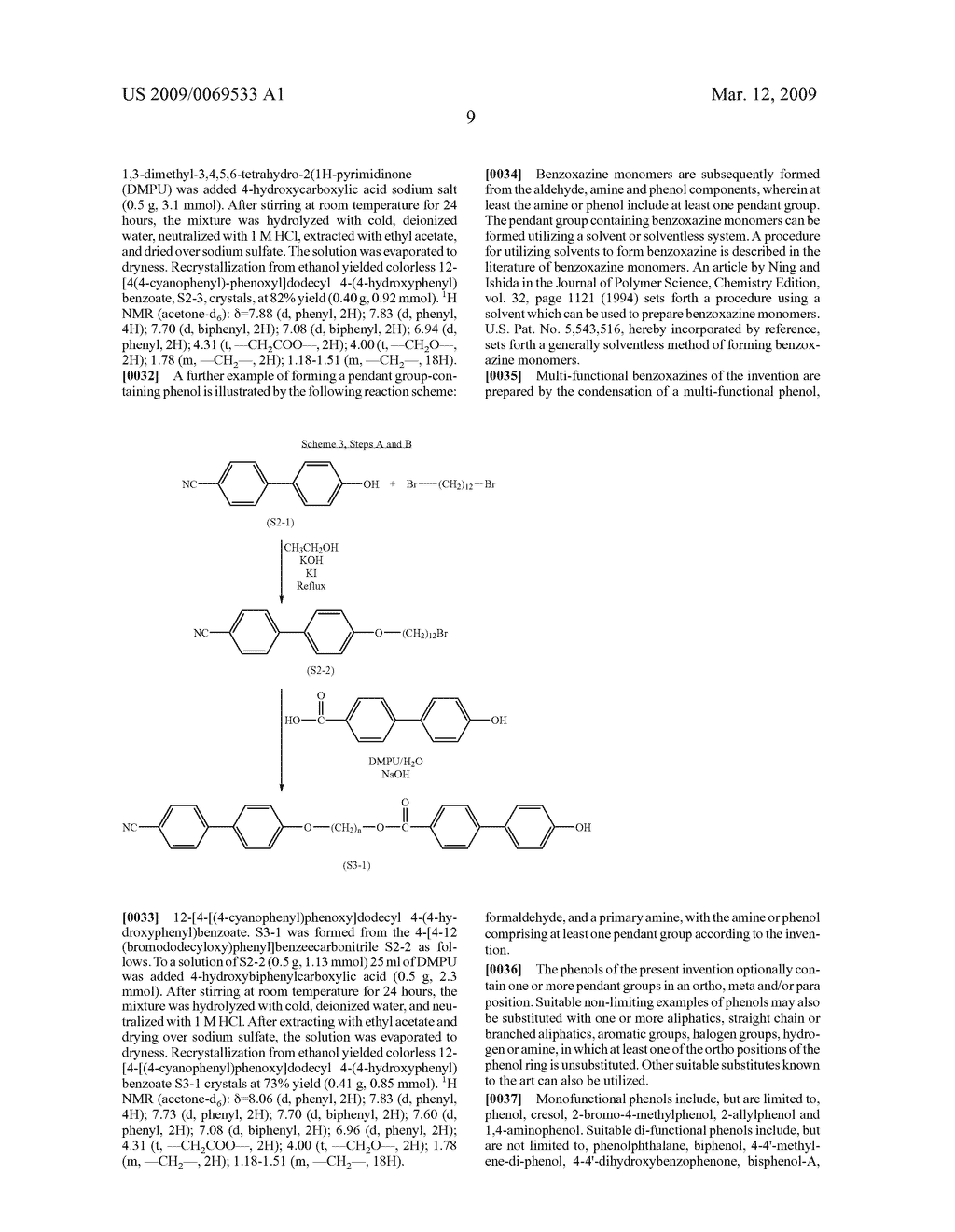 Benzoxazine monomers, polymers and compositions - diagram, schematic, and image 11