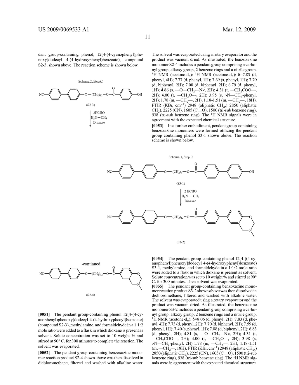 Benzoxazine monomers, polymers and compositions - diagram, schematic, and image 13