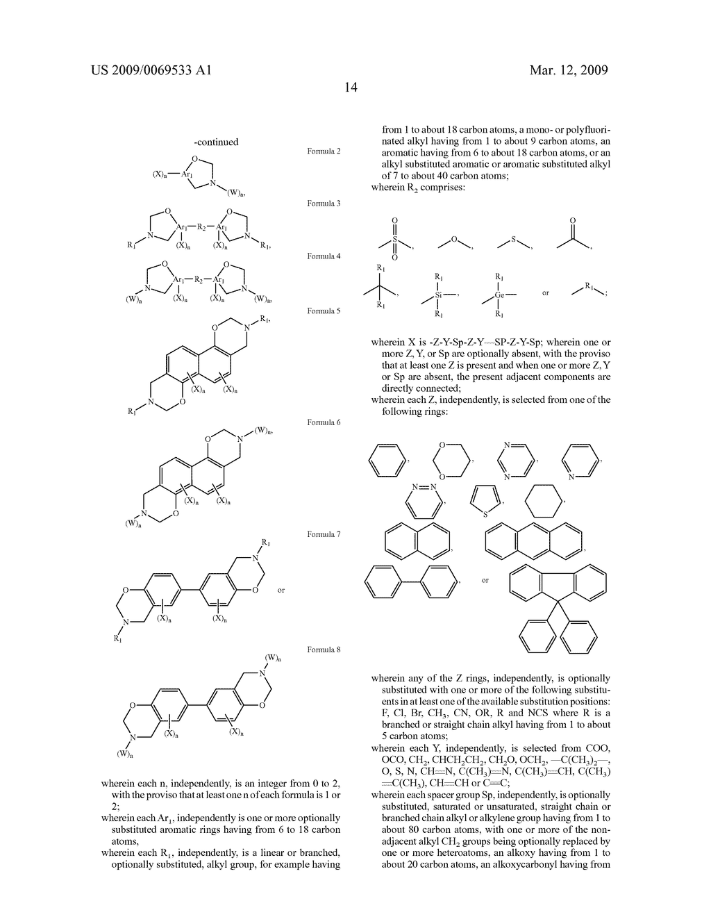 Benzoxazine monomers, polymers and compositions - diagram, schematic, and image 16