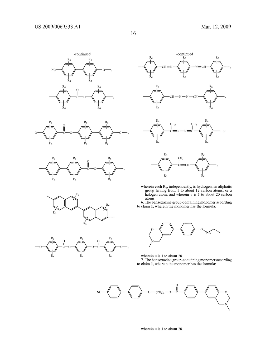 Benzoxazine monomers, polymers and compositions - diagram, schematic, and image 18