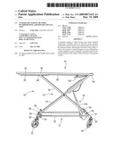 Veterinary gurney or table incorporating a removable dental tray diagram and image