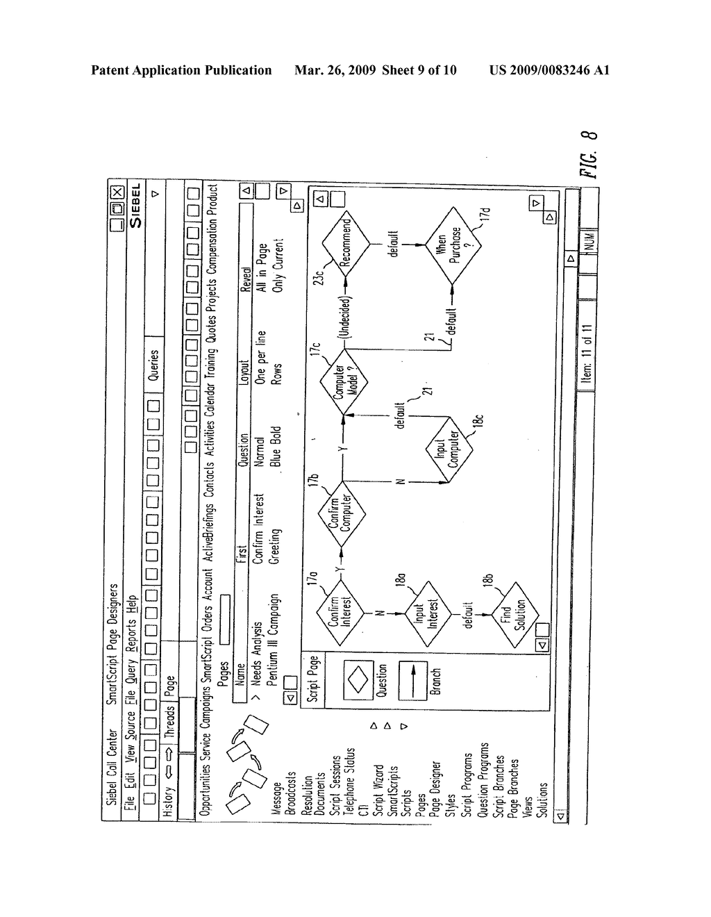 SYSTEM AND METHOD FOR SMART SCRIPTING CALL CENTERS AND CONFIGURATION THEREOF - diagram, schematic, and image 10