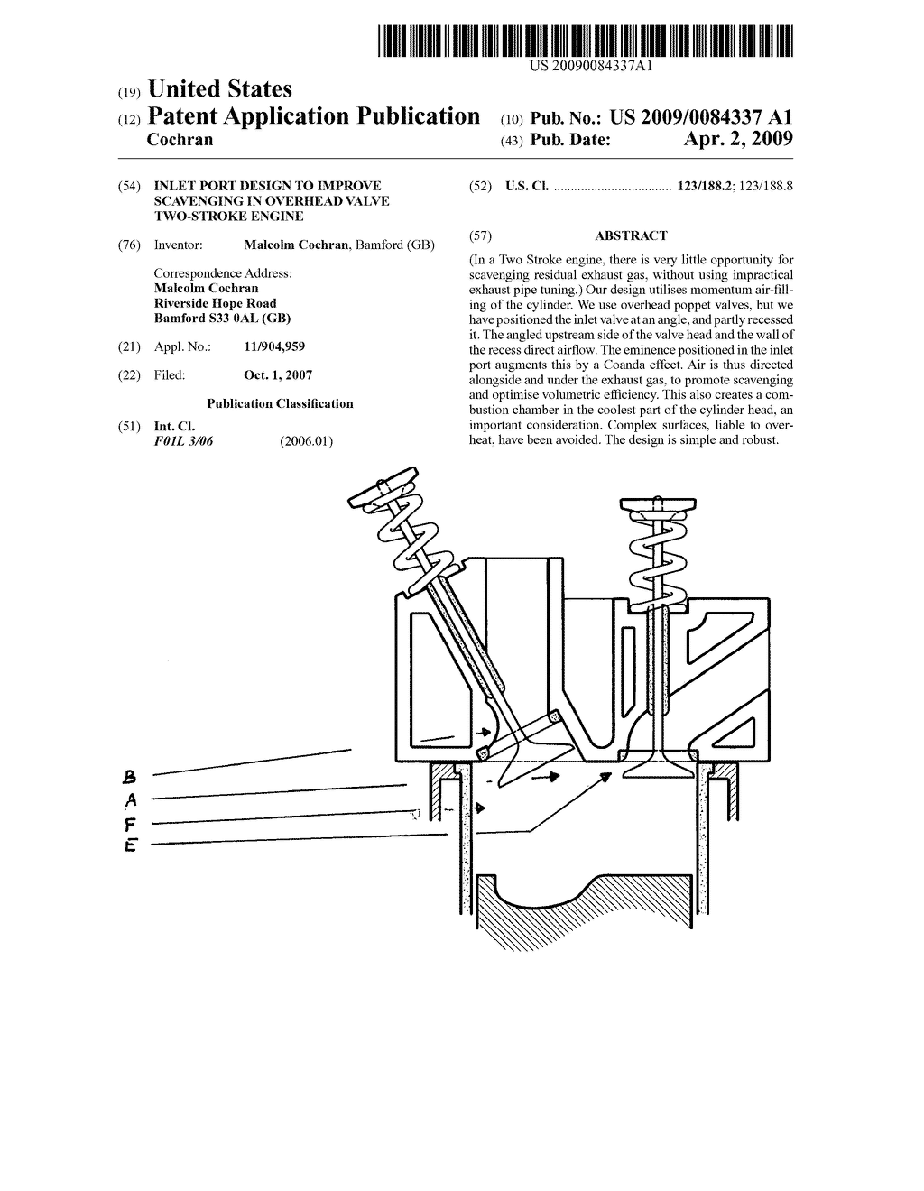 Two Stroke Engine With Valve Valves Diagram Inlet Port Design To Improve Scavenging In Overhead Schematic And Image