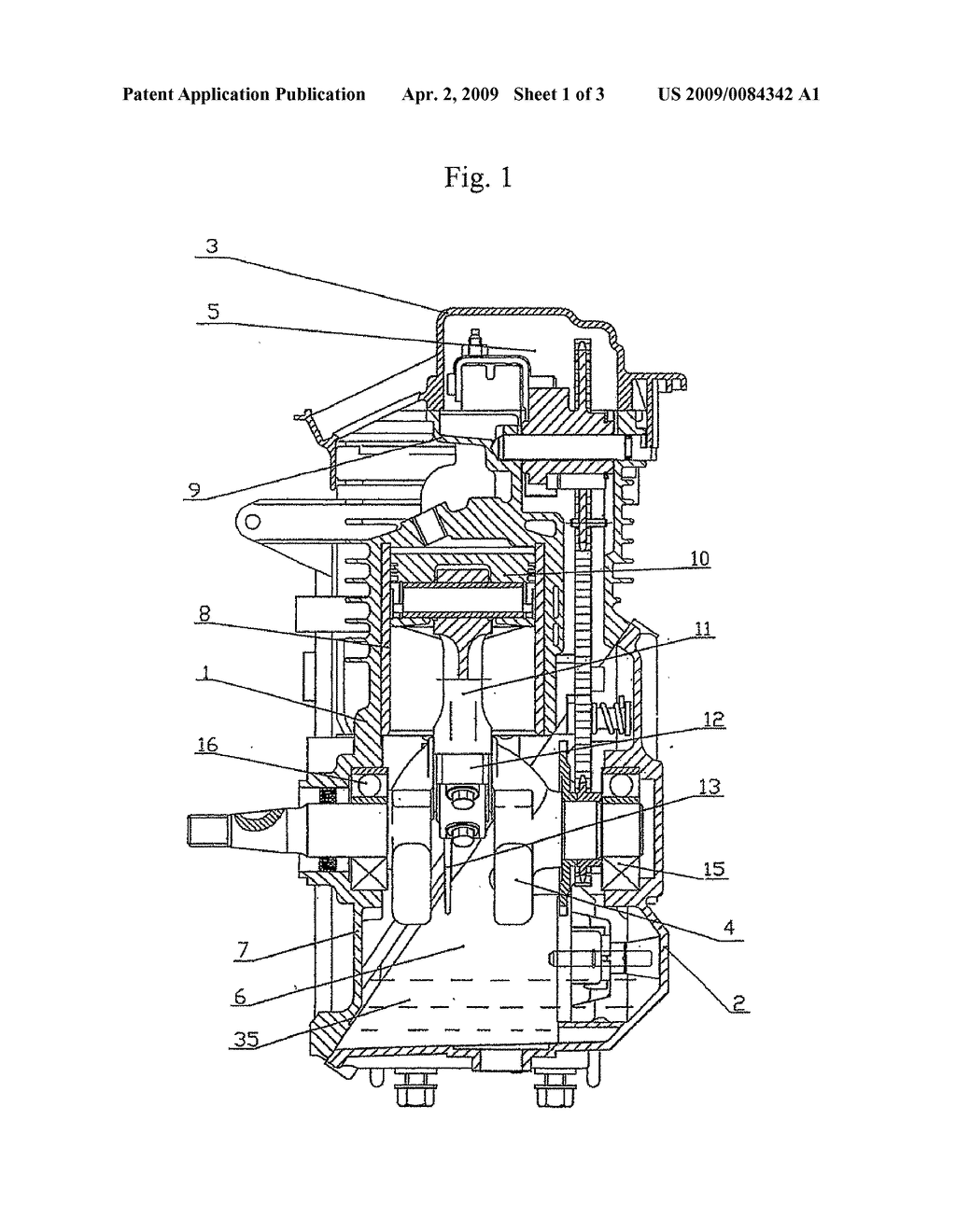 Crankcase Scavenging Mechanism For A Four Stroke Engine Diagram 4 Schematic And Image 02