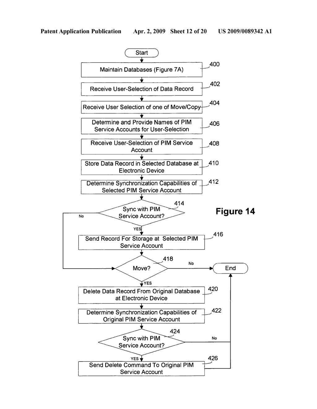 ELECTRONIC DEVICE AND METHOD FOR MANAGING STORAGE OF DATA - diagram, schematic, and image 13