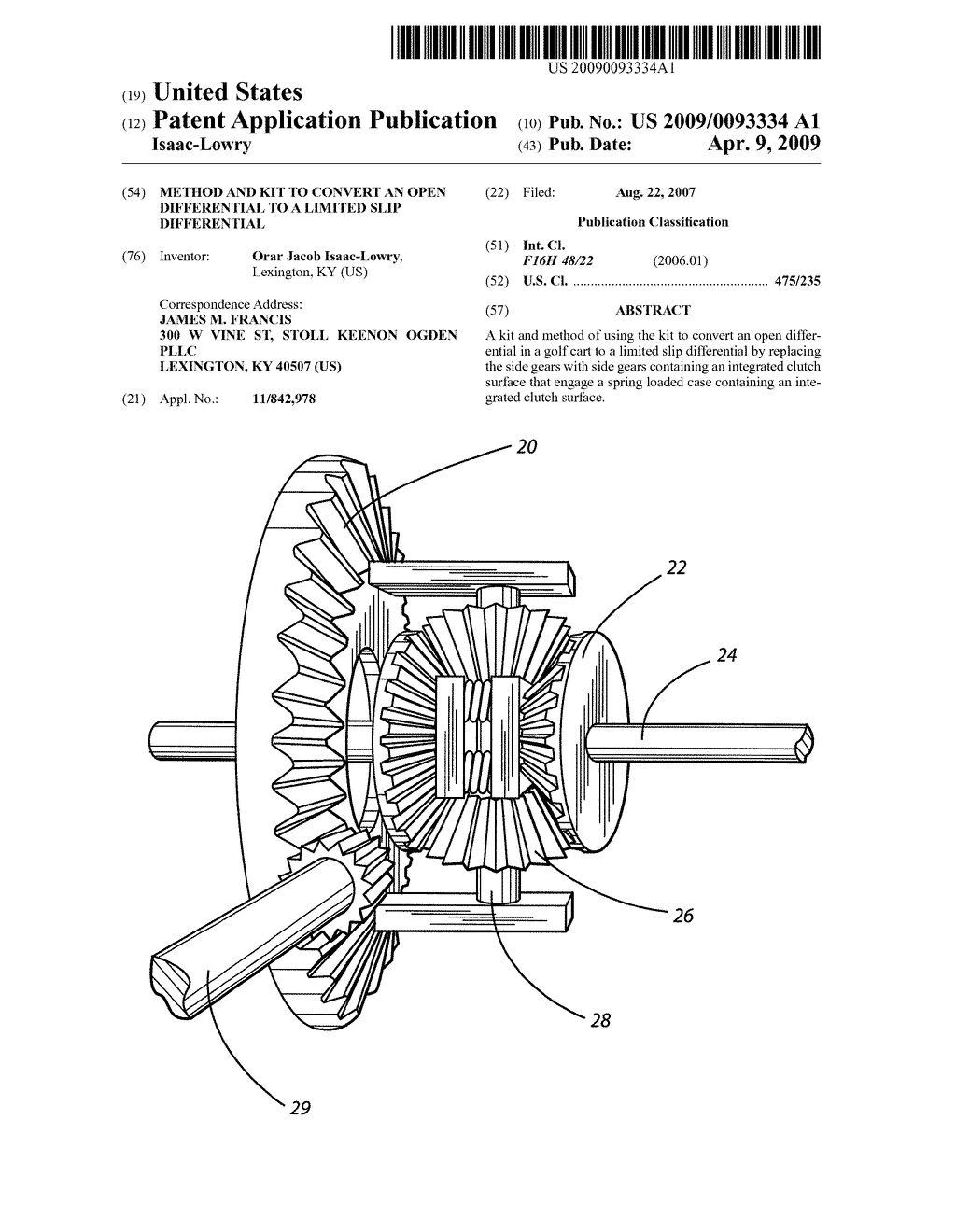 Method and Kit to Convert an Open Differential to a Limited Slip  Differential - diagram, schematic, and image 01