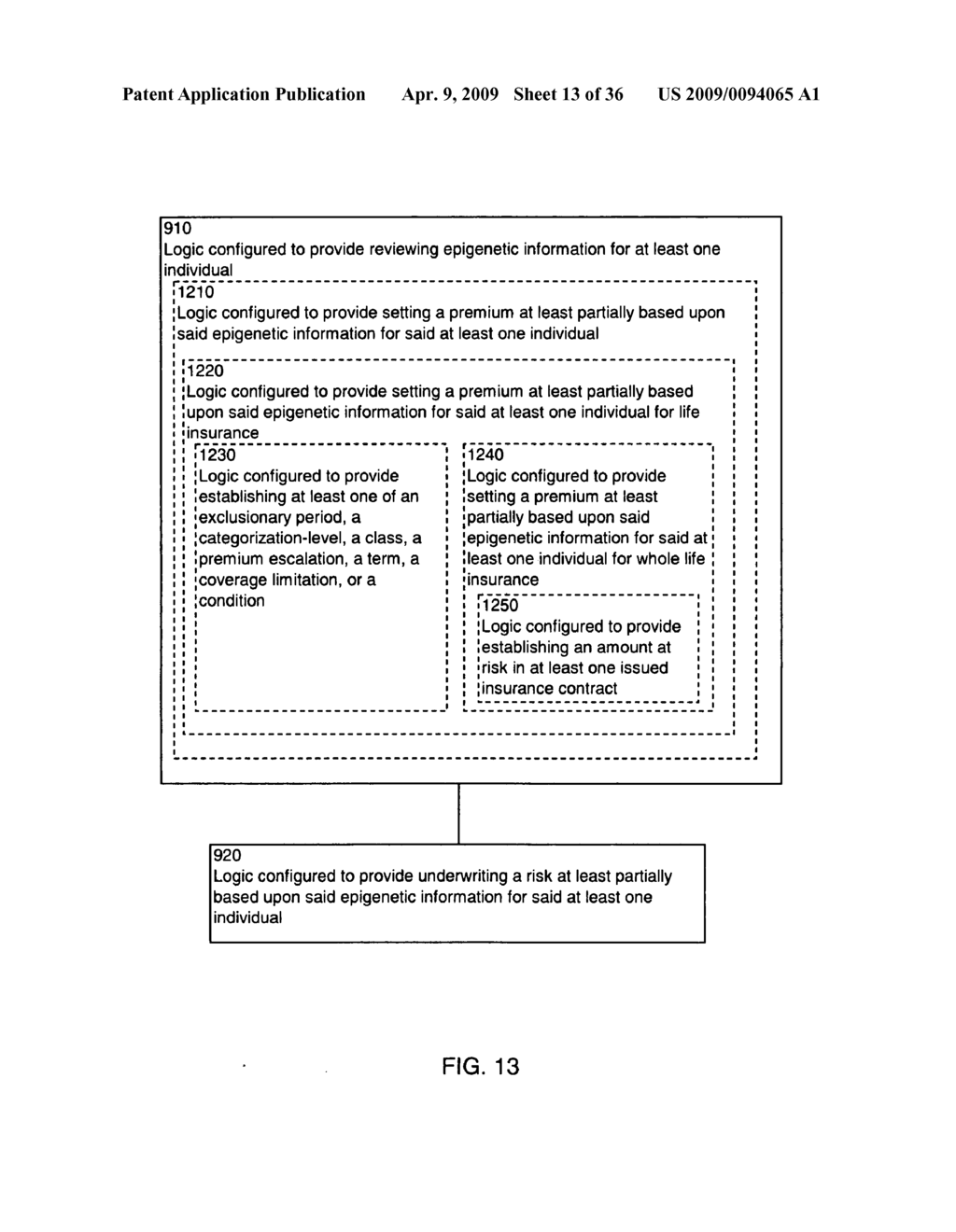 Systems and methods for underwriting risks utilizing epigenetic information - diagram, schematic, and image 14