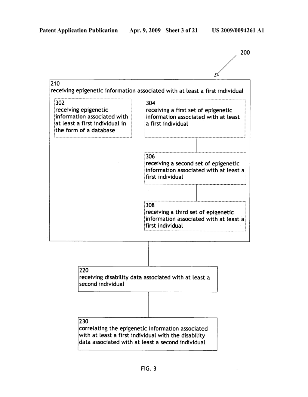 Systems and methods for correlating epigenetic information with disability data - diagram, schematic, and image 04