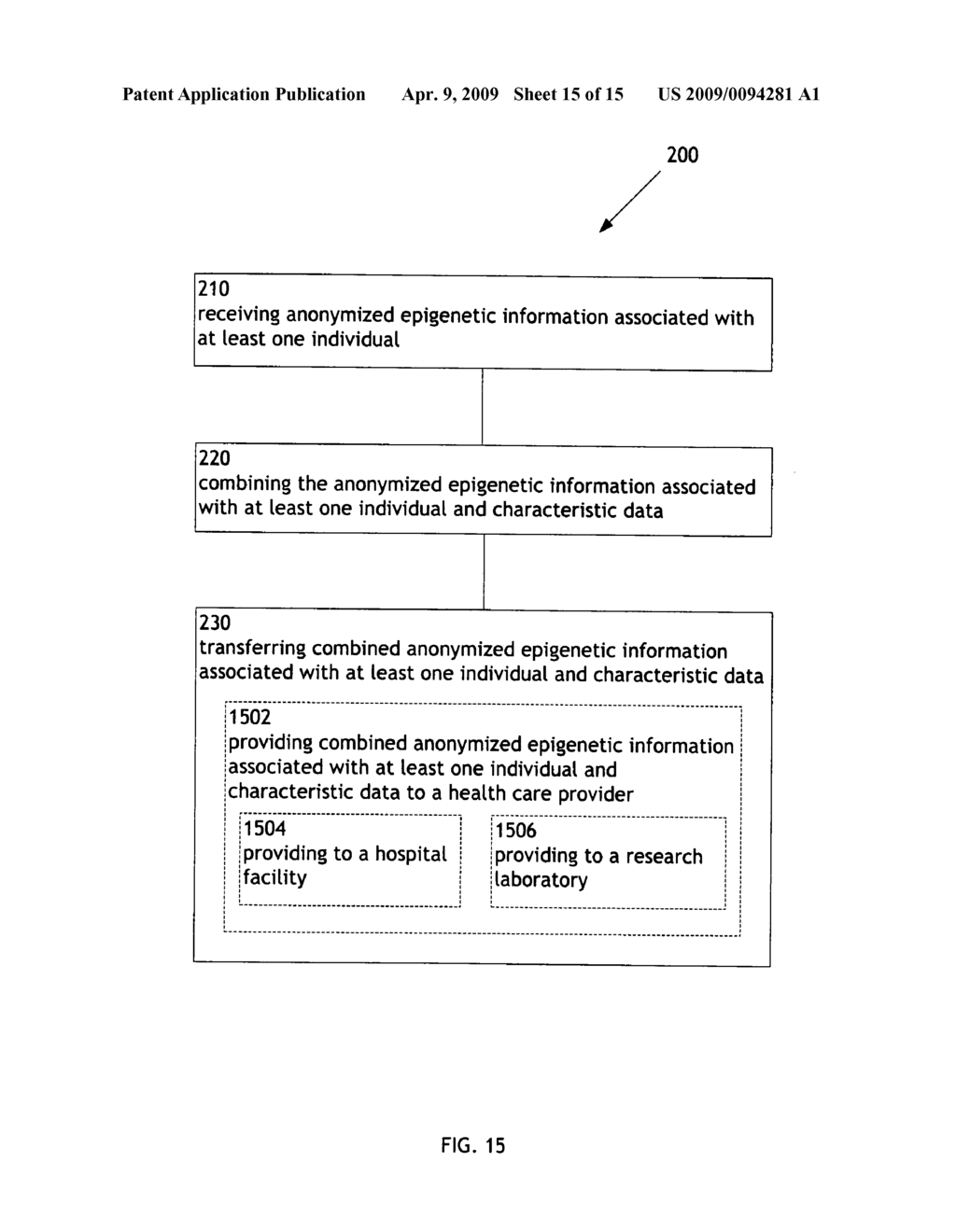 Systems and methods for transferring combined epigenetic information and other information - diagram, schematic, and image 16