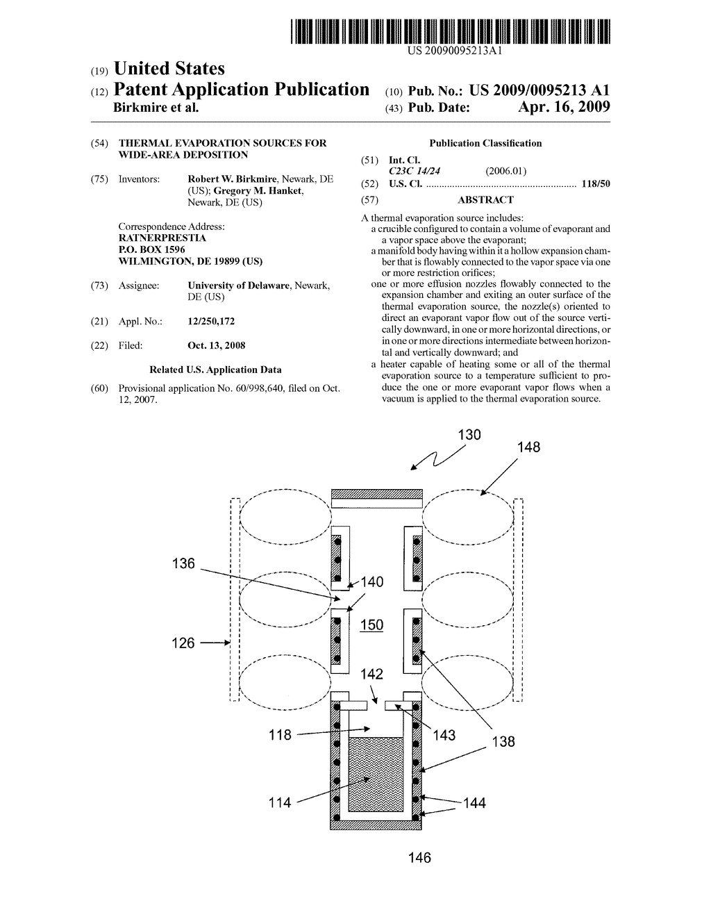 THERMAL EVAPORATION SOURCES FOR WIDE-AREA DEPOSITION - diagram, schematic, and image 01