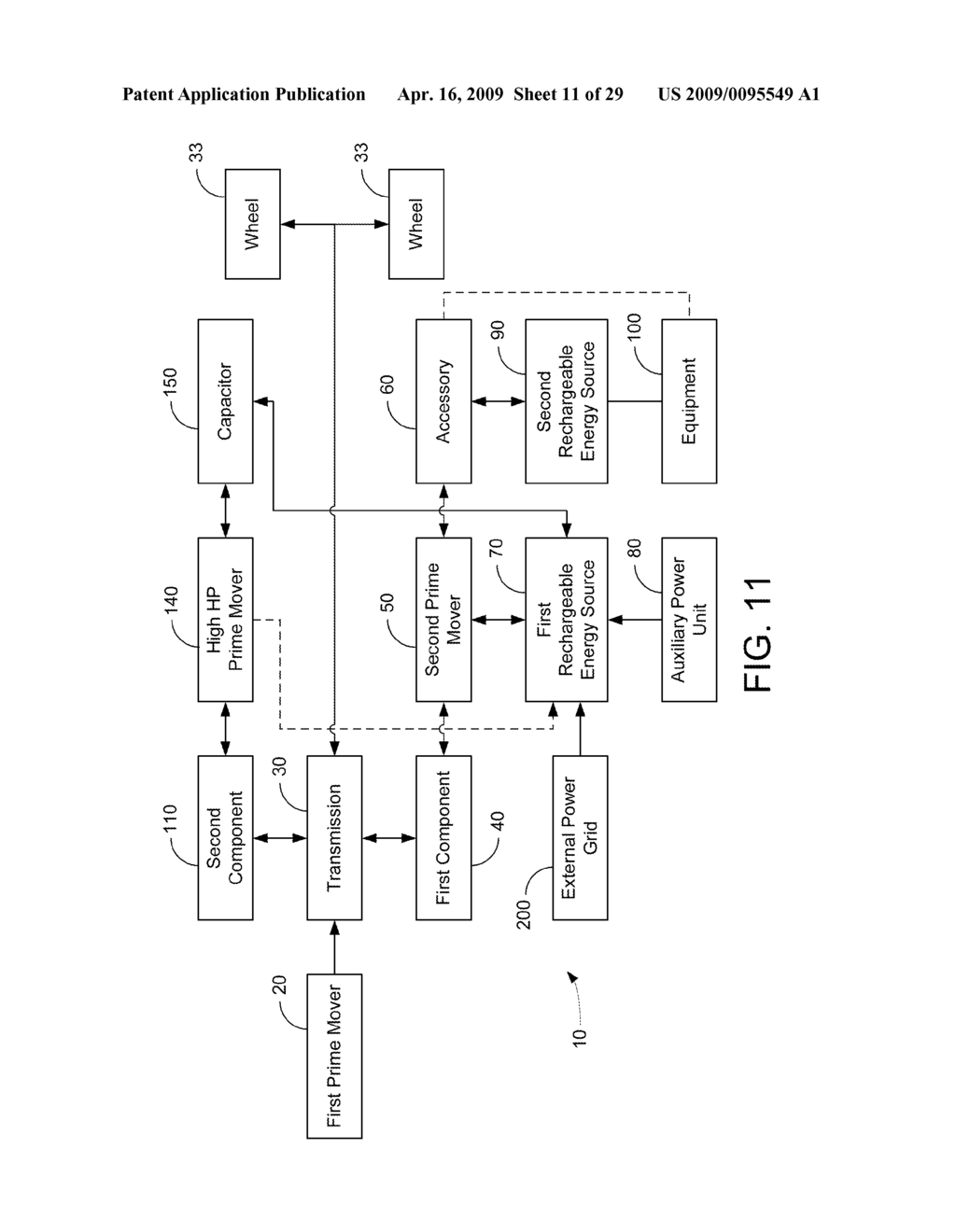 HYBRID VEHICLE DRIVE SYSTEM AND METHOD AND IDLE REDUCTION SYSTEM AND METHOD - diagram, schematic, and image 12
