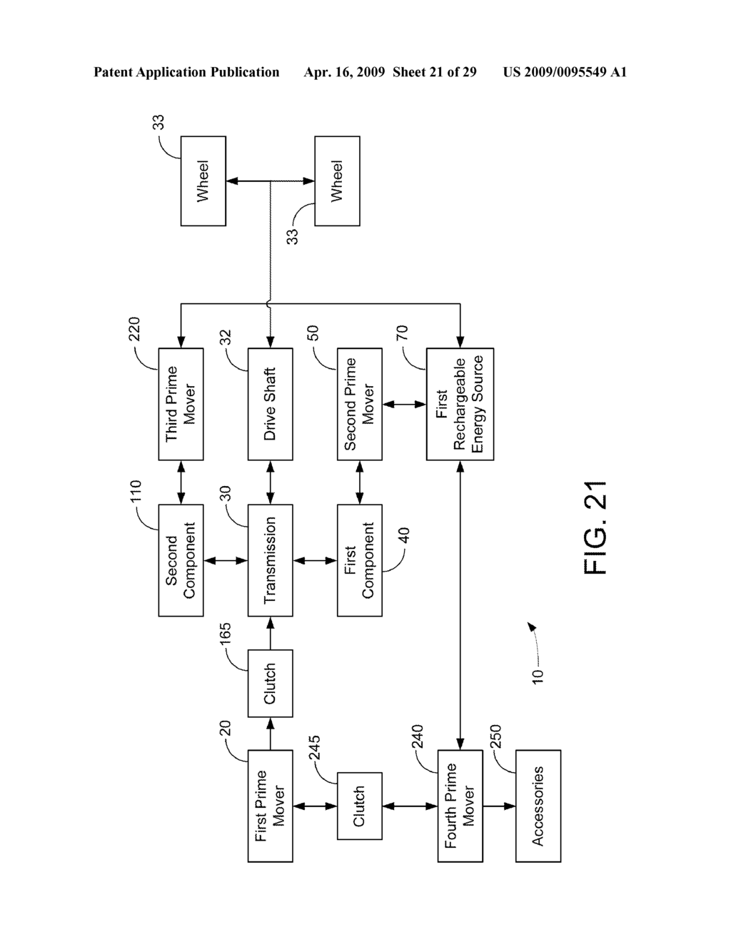 HYBRID VEHICLE DRIVE SYSTEM AND METHOD AND IDLE REDUCTION SYSTEM AND METHOD - diagram, schematic, and image 22