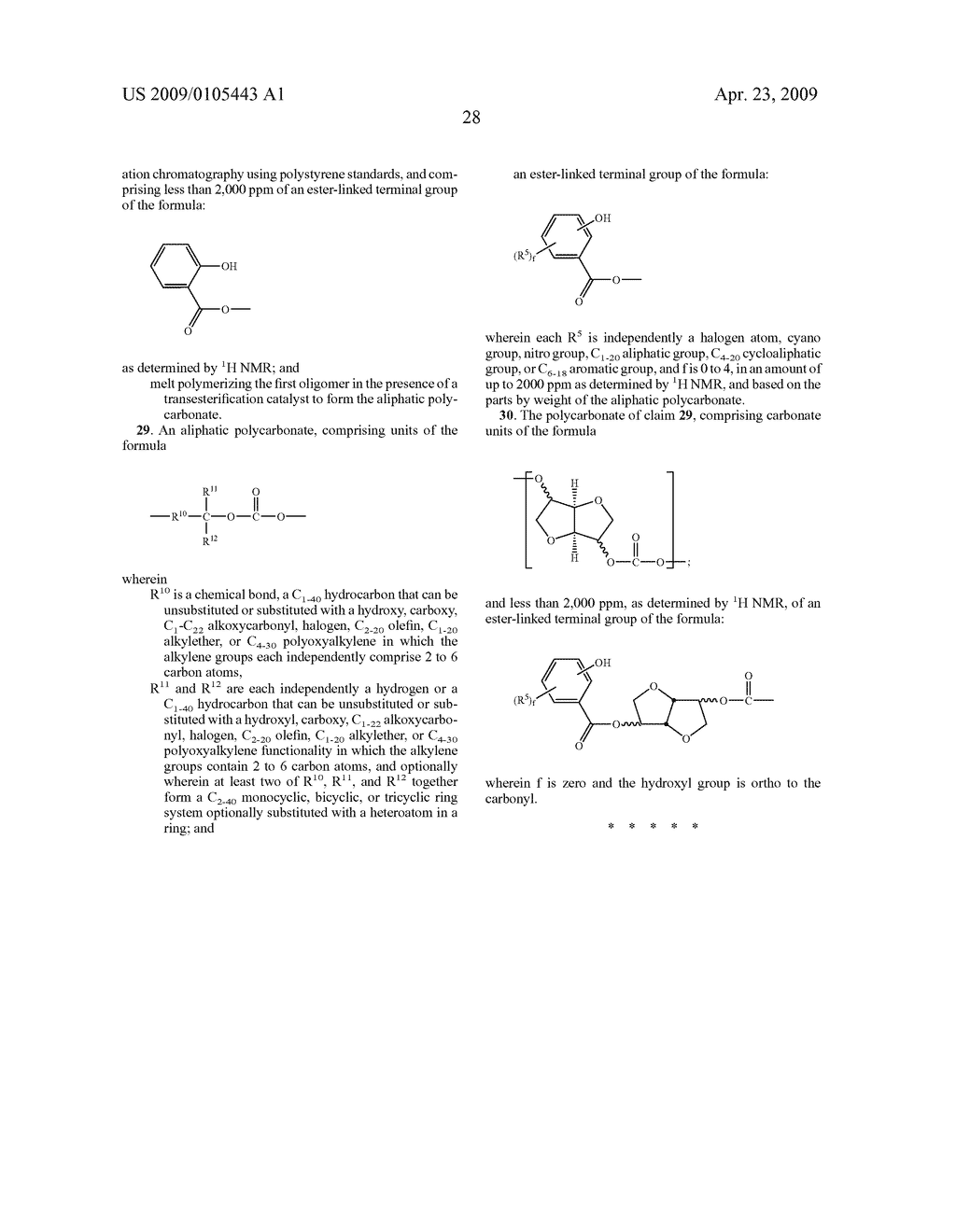 ALIPHATIC POLYCARBONATES, METHODS OF MAKING, AND ARTICLES FORMED THEREFROM - diagram, schematic, and image 41