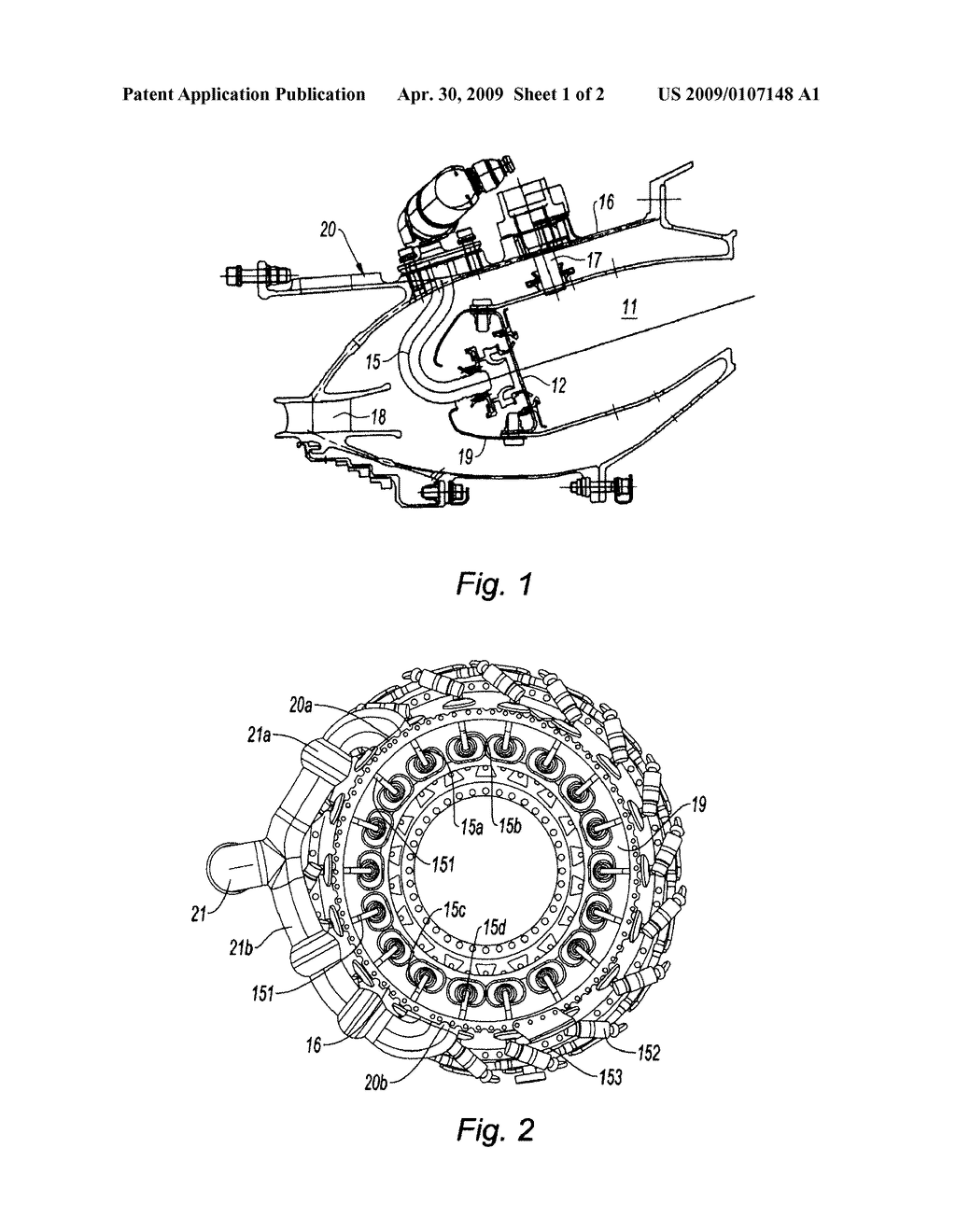 Annular Combustion Chamber Of A Gas Turbine Engine Diagram Schematic And Image 02