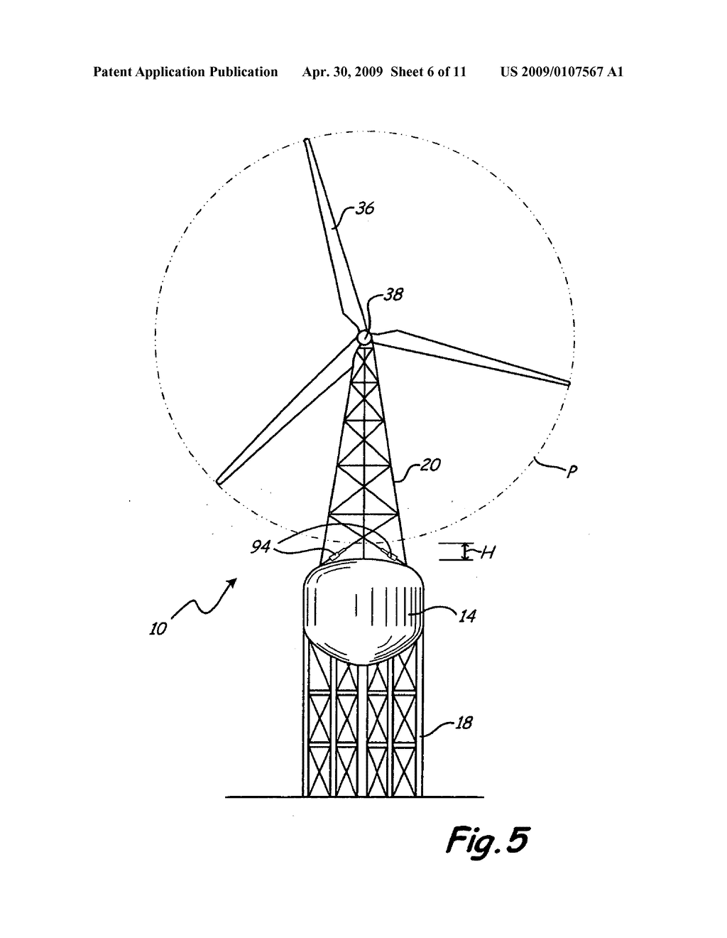 Combination Water Tower And Electrical Wind Turbine Generator Diagram Schematic Image 07