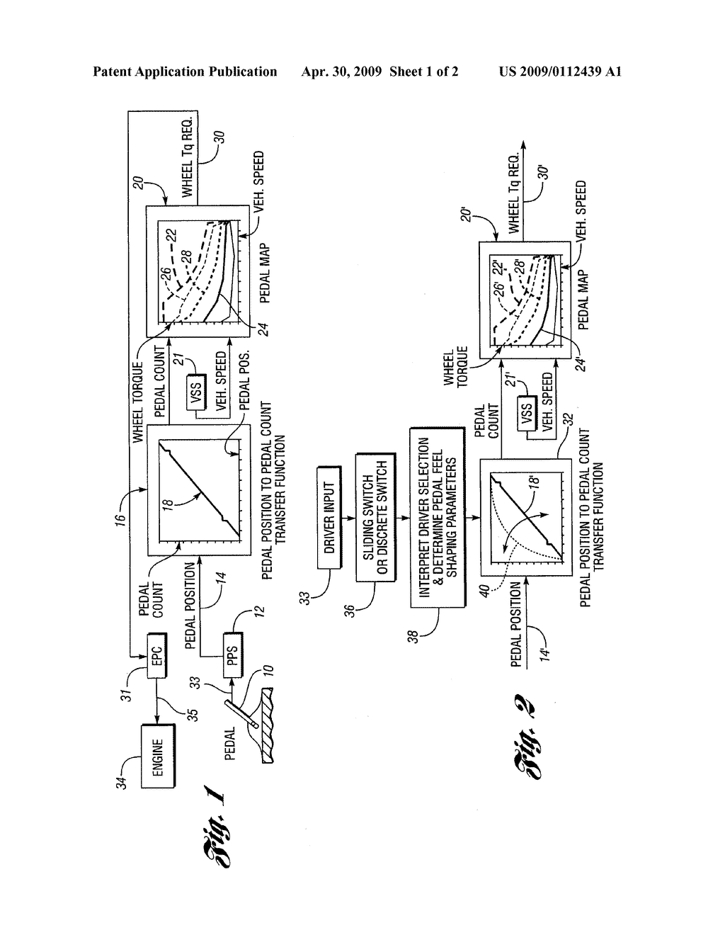SYSTEM AND METHOD FOR OBTAINING AN ADJUSTABLE ACCELERATOR PEDAL RESPONSE IN A VEHICLE POWERTRAIN - diagram, schematic, and image 02