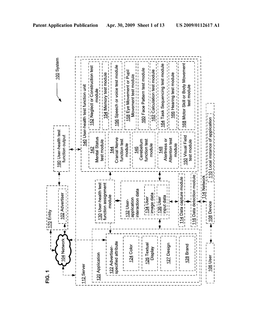 Computational user-health testing responsive to a user interaction with advertiser-configured content - diagram, schematic, and image 02