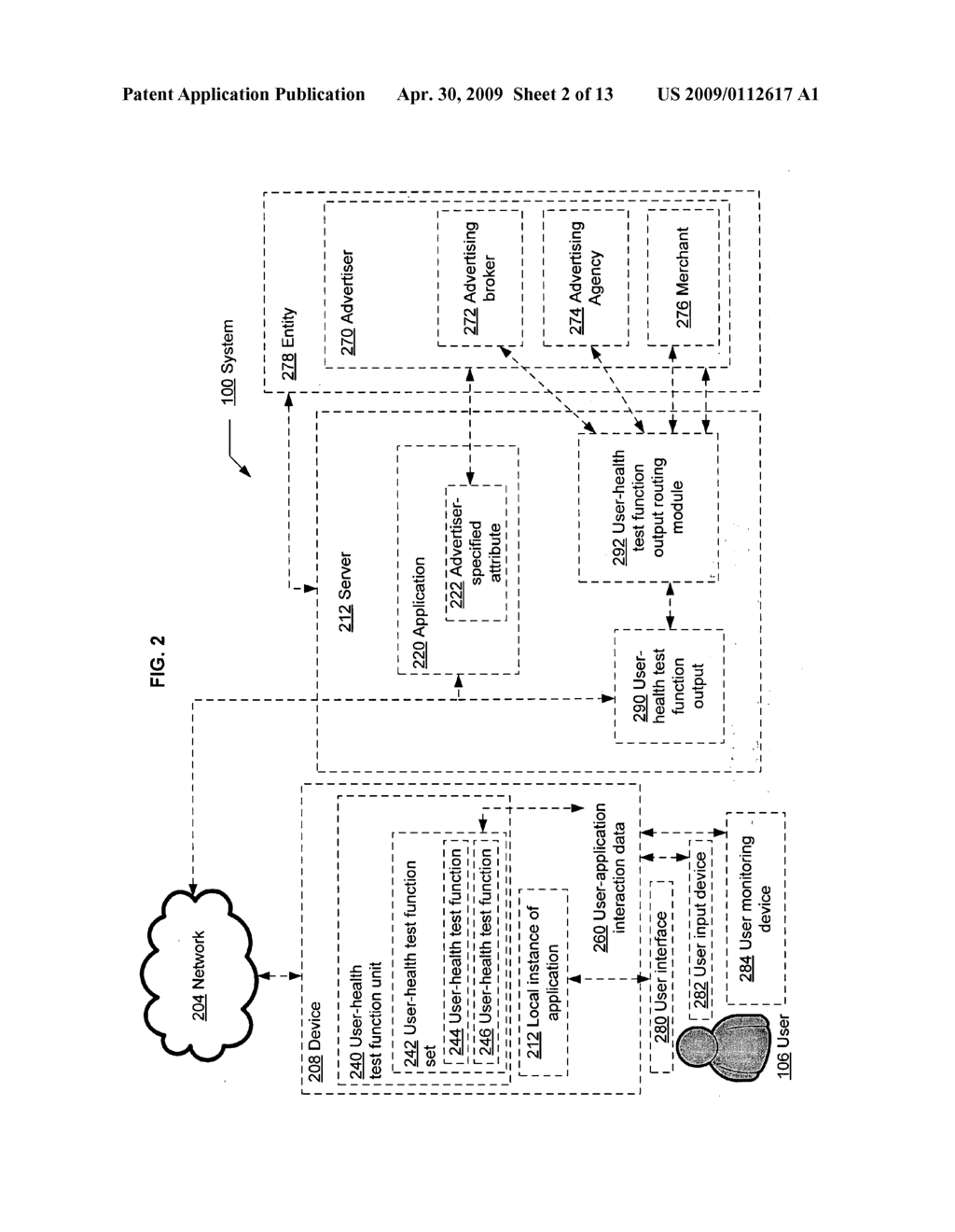 Computational user-health testing responsive to a user interaction with advertiser-configured content - diagram, schematic, and image 03