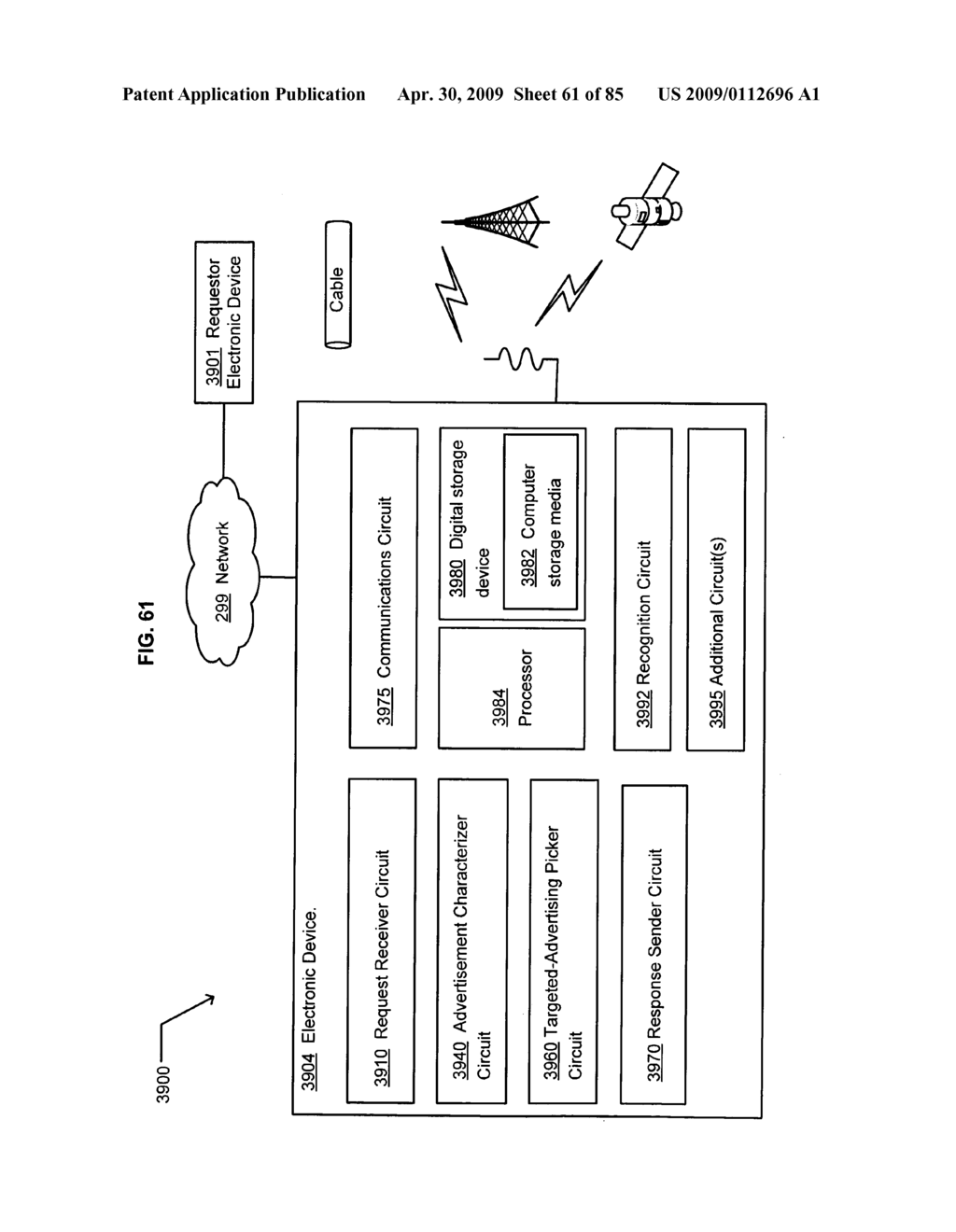 Method of space-available advertising in a mobile device - diagram, schematic, and image 62