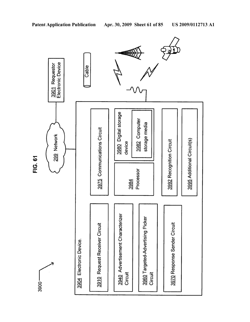 Opportunity advertising in a mobile device - diagram, schematic, and image 62