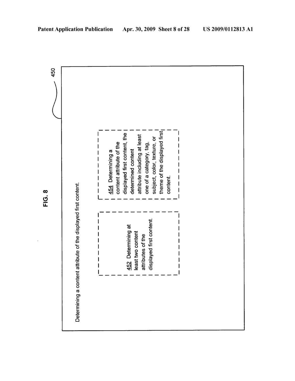 Method of selecting a second content based on a user's reaction to a first content of at least two instances of displayed content - diagram, schematic, and image 09