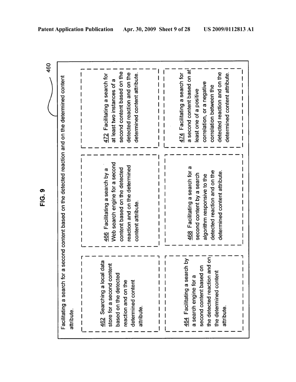 Method of selecting a second content based on a user's reaction to a first content of at least two instances of displayed content - diagram, schematic, and image 10