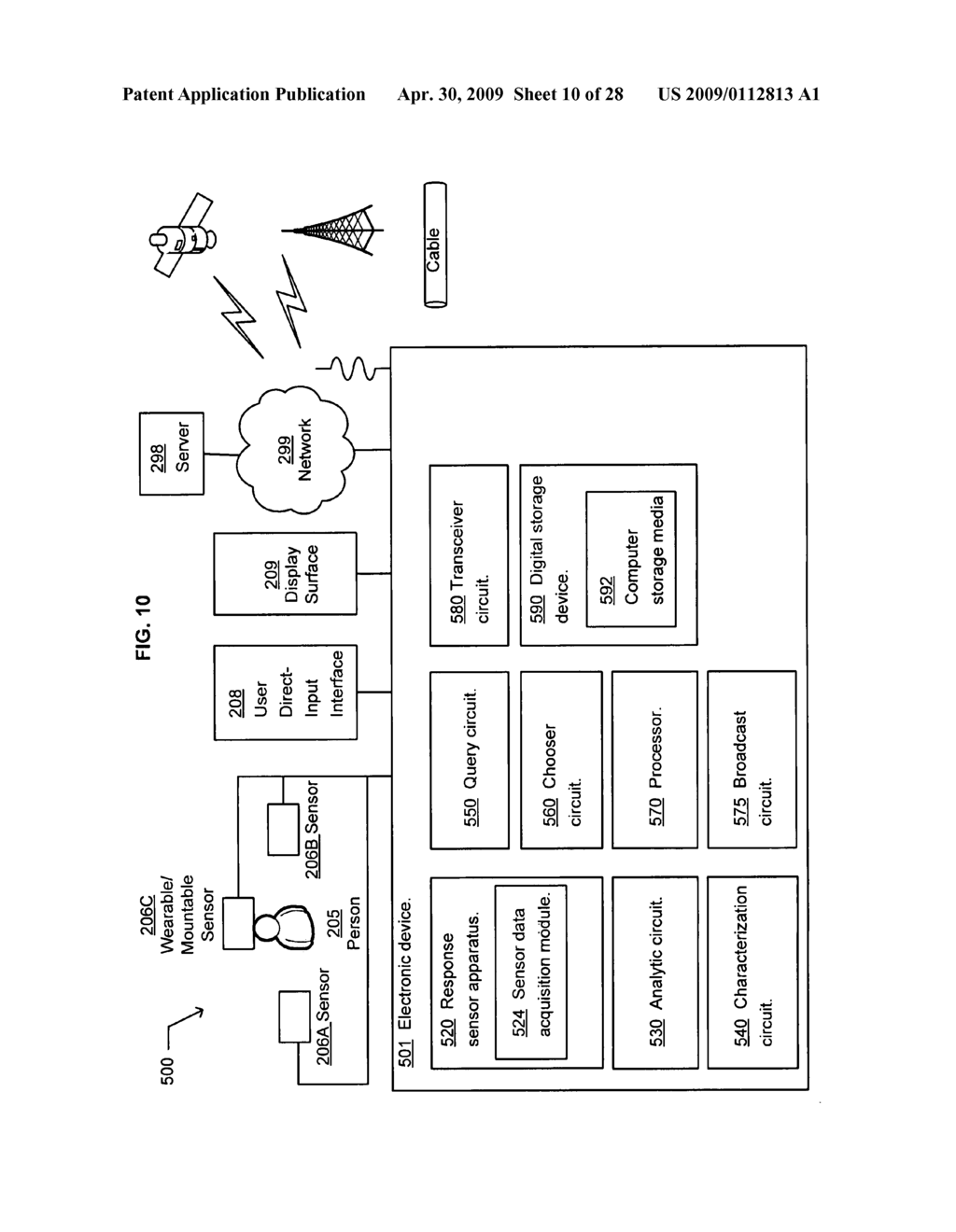 Method of selecting a second content based on a user's reaction to a first content of at least two instances of displayed content - diagram, schematic, and image 11