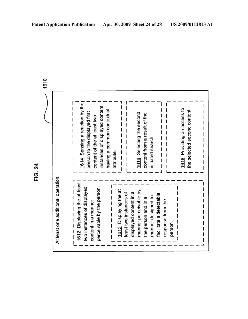 Method of selecting a second content based on a user's reaction to a first content of at least two instances of displayed content - diagram, schematic, and image 25