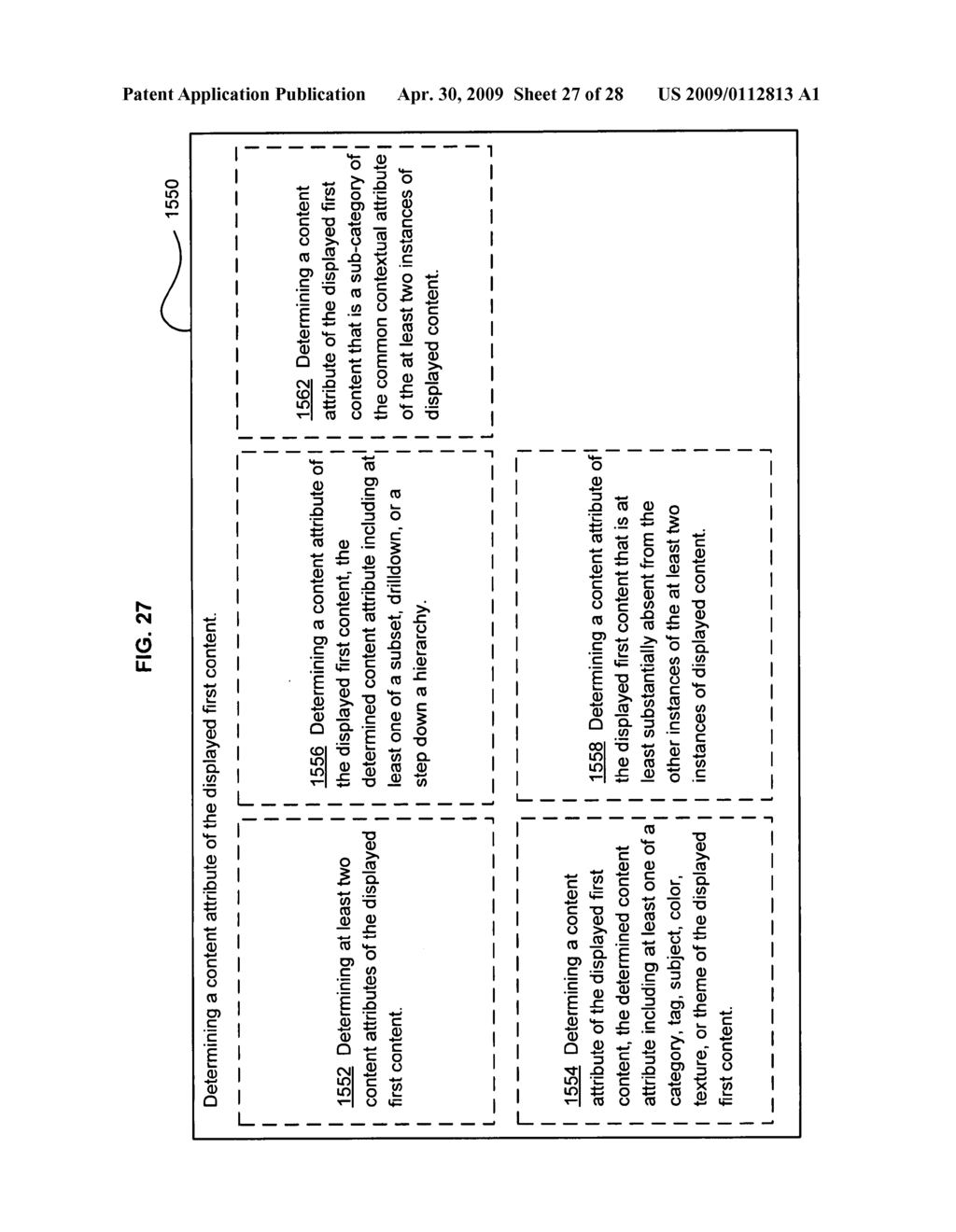 Method of selecting a second content based on a user's reaction to a first content of at least two instances of displayed content - diagram, schematic, and image 28