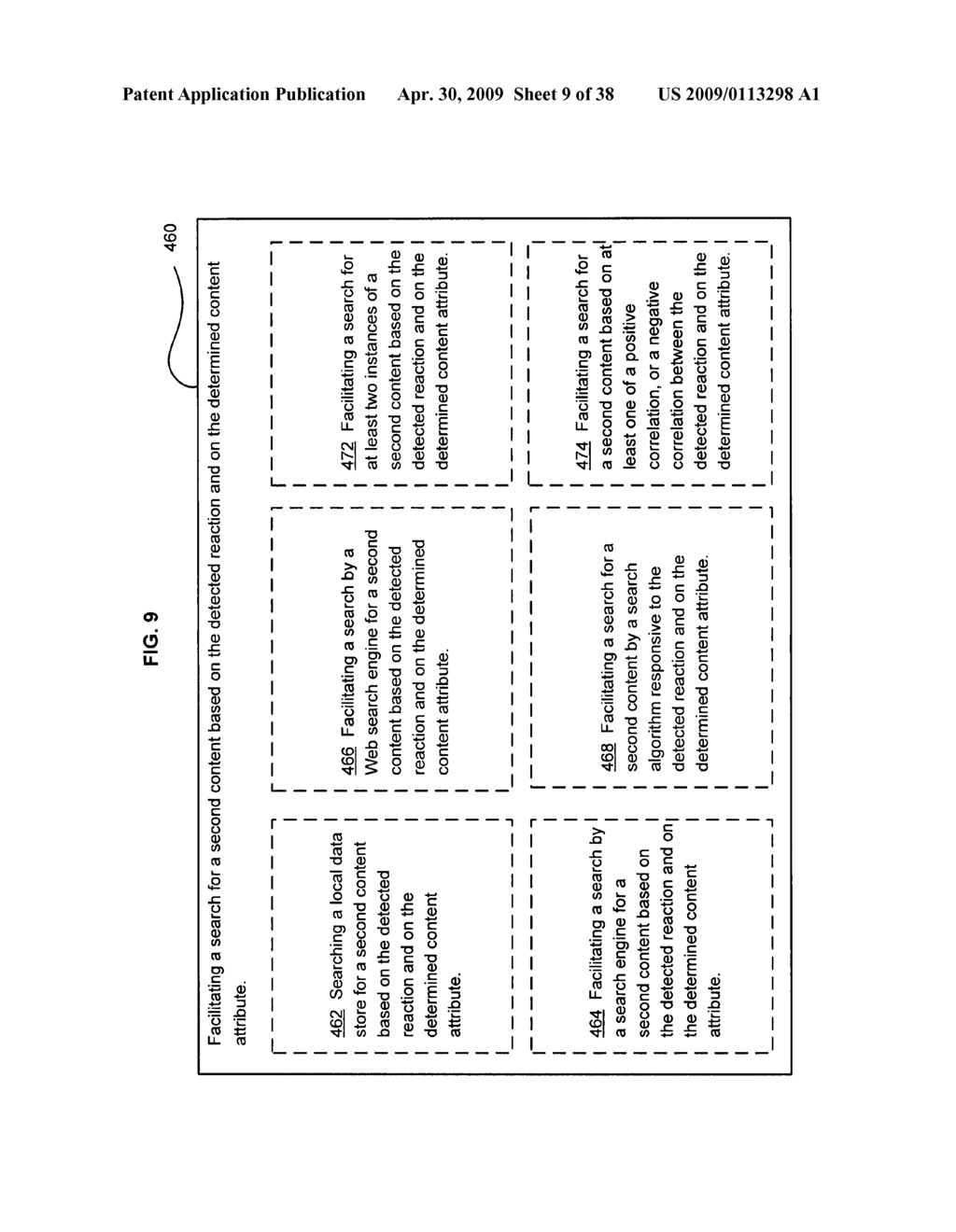 Method of selecting a second content based on a user's reaction to a first content - diagram, schematic, and image 10