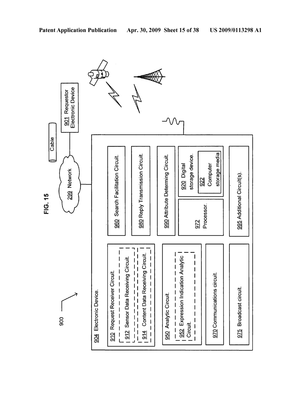 Method of selecting a second content based on a user's reaction to a first content - diagram, schematic, and image 16