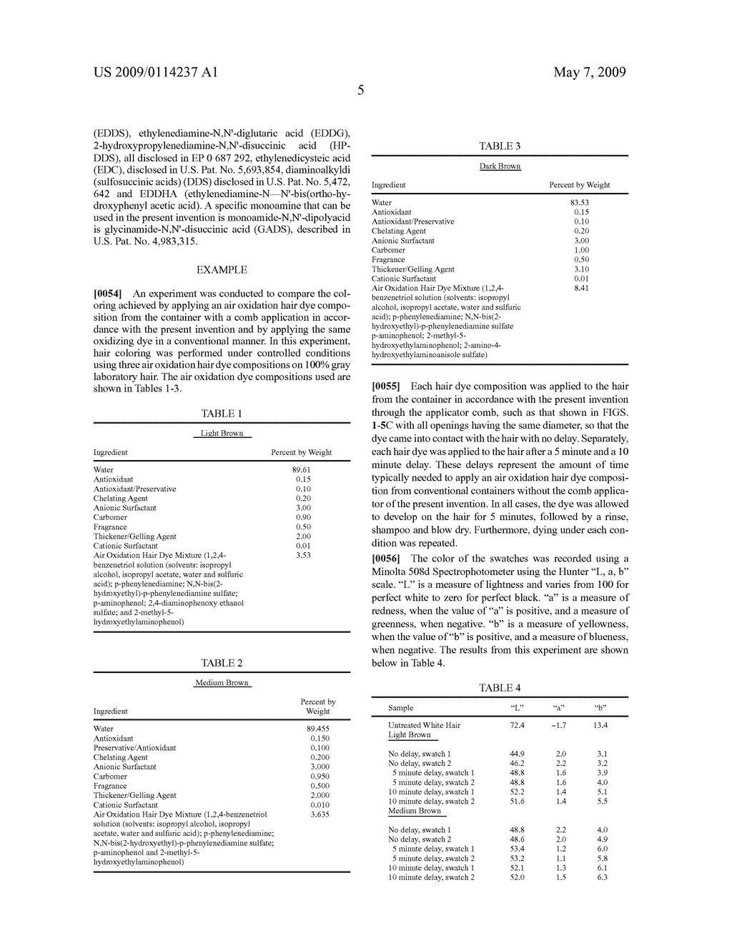 AIR OXIDATION HAIR DYE APPLICATION SYSTEM AND METHOD FOR COLORING HAIR USING THE SAME - diagram, schematic, and image 12