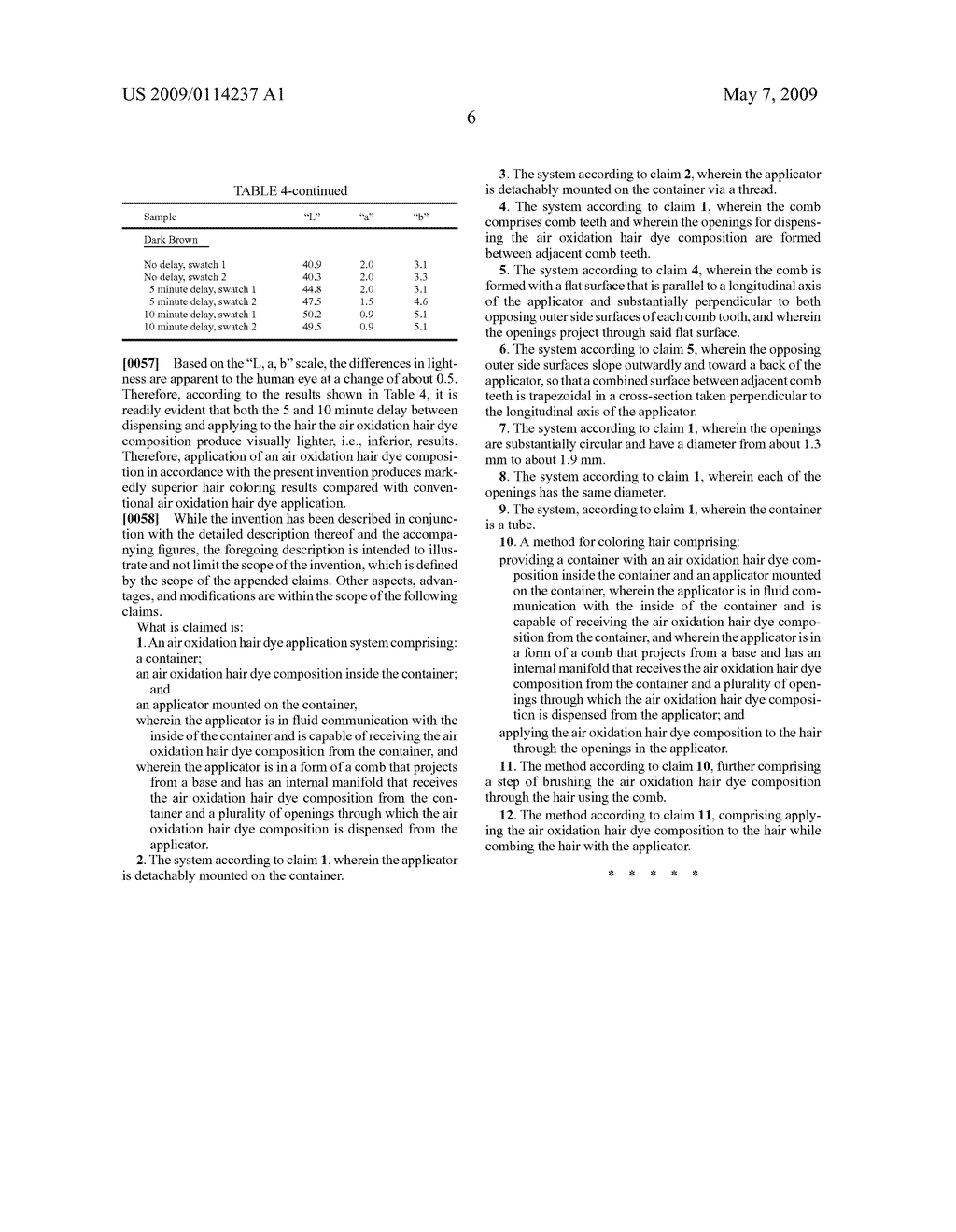 AIR OXIDATION HAIR DYE APPLICATION SYSTEM AND METHOD FOR COLORING HAIR USING THE SAME - diagram, schematic, and image 13