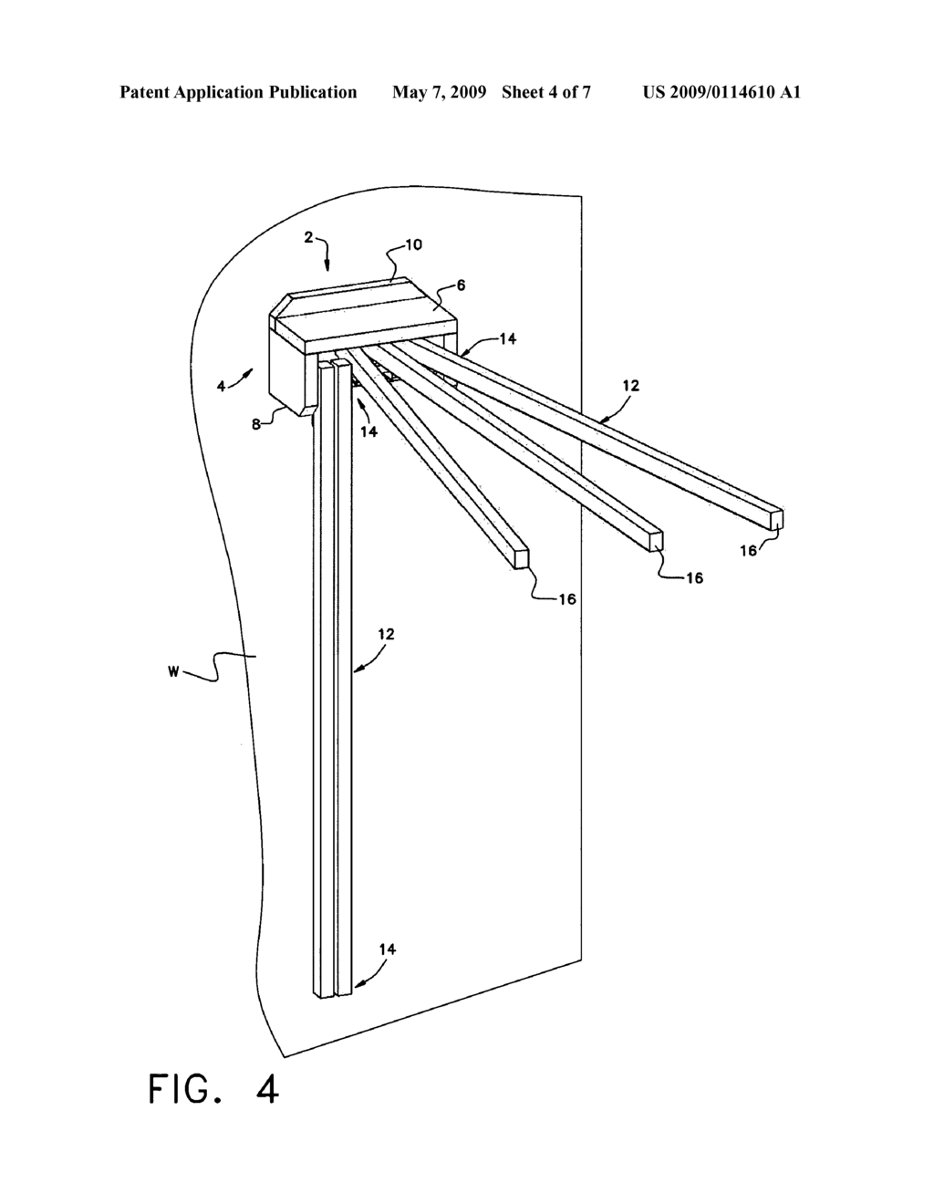 SURFACE MOUNTABLE COLLAPSIBLE TOWEL RACK - diagram, schematic, and image 05