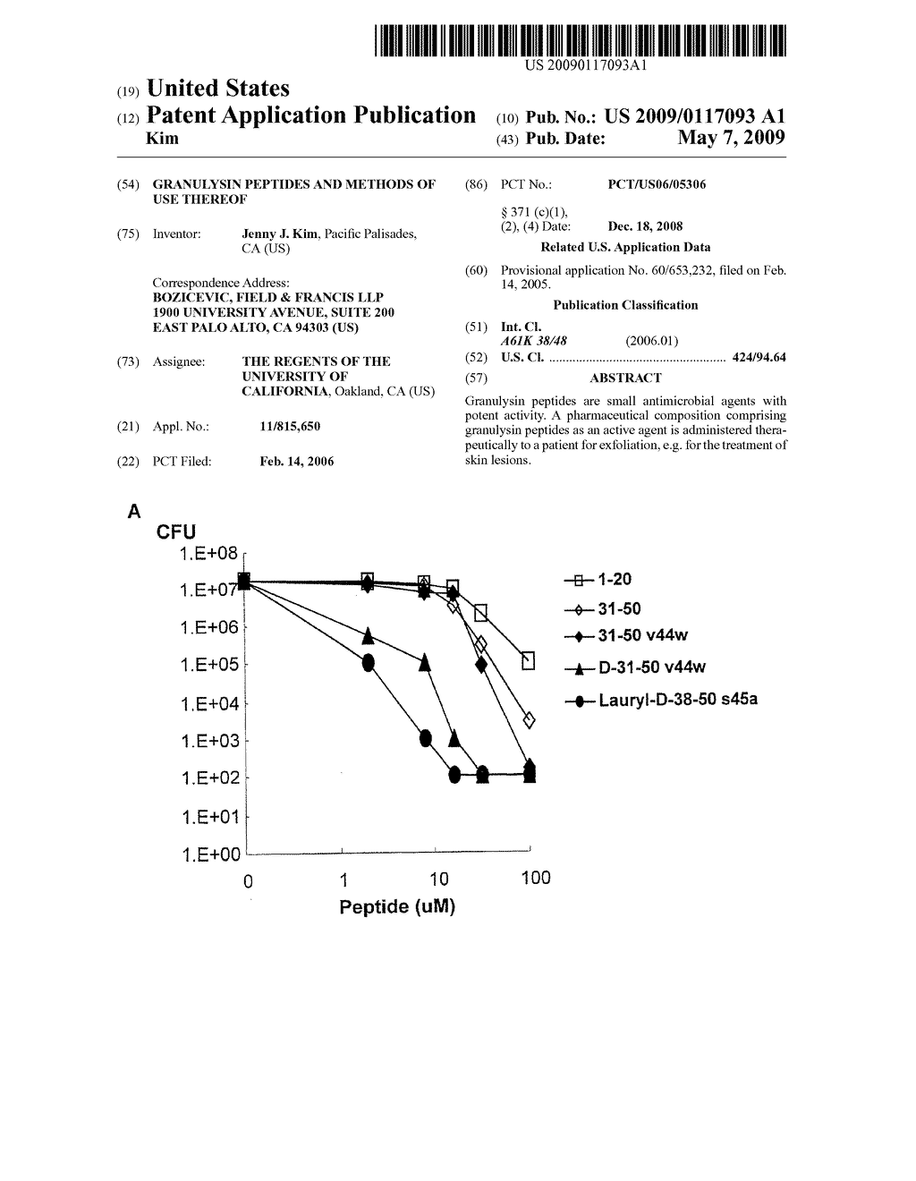 GRANULYSIN PEPTIDES AND METHODS OF USE THEREOF - diagram, schematic, and image 01