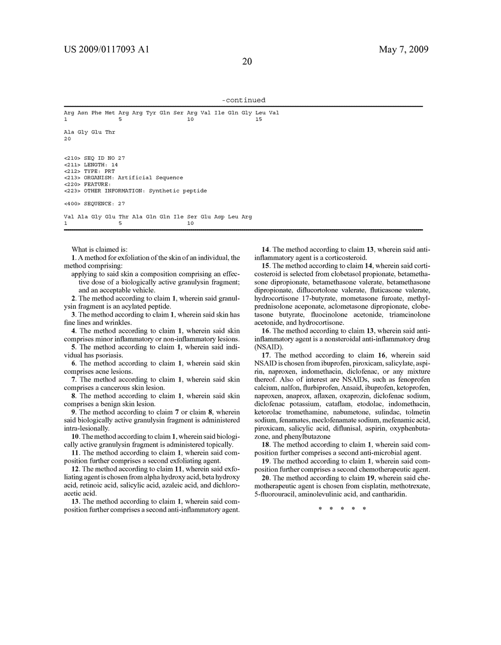 GRANULYSIN PEPTIDES AND METHODS OF USE THEREOF - diagram, schematic, and image 27