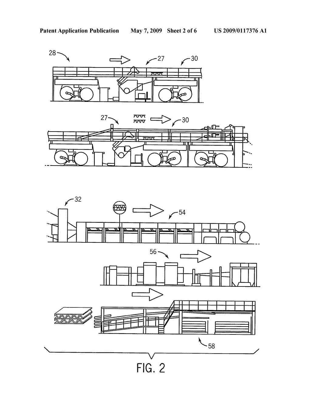Apparatus and Method for the Production of Corrugated and Laminated Board and Compositions Based Thereon - diagram, schematic, and image 03