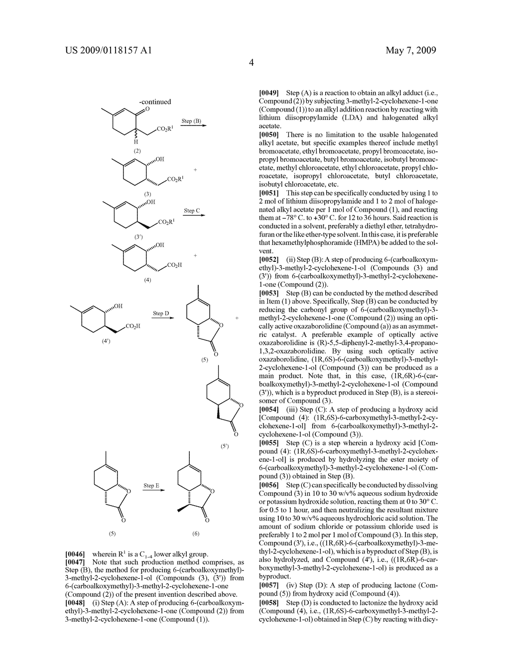 Processes For Production Of Wine Lactone And Its Intermediates And Application Of The Lactone - diagram, schematic, and image 05