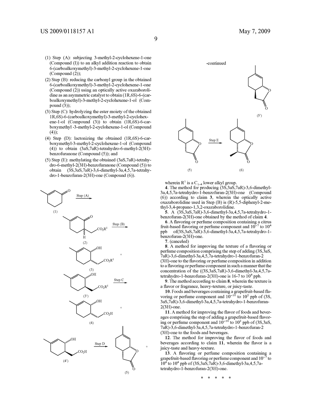 Processes For Production Of Wine Lactone And Its Intermediates And Application Of The Lactone - diagram, schematic, and image 10