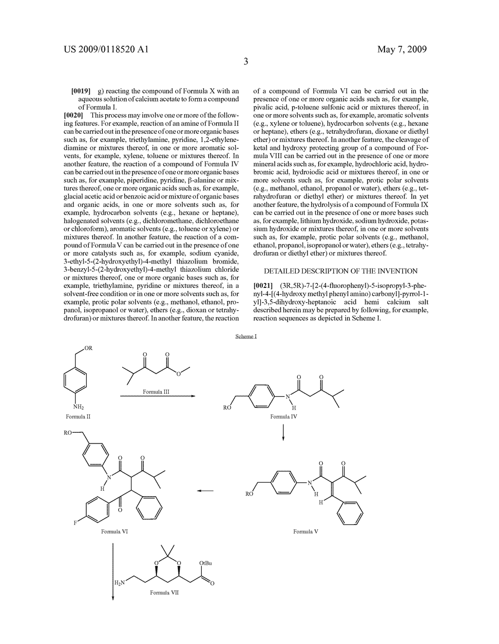 PROCESS FOR PREPARATION OF (3R, 5R)-7-[2-(4-FLUOROPHENYL)-5-ISOPROPYL-3-PHENYL-4-[(4-HYDROXY METHYL PHENYL AMINO) CARBONYL]-PYRROL-1-YL]-3,5-DIHYDROXY-HEPTANOIC ACID HEMI CALCIUM SALT - diagram, schematic, and image 04