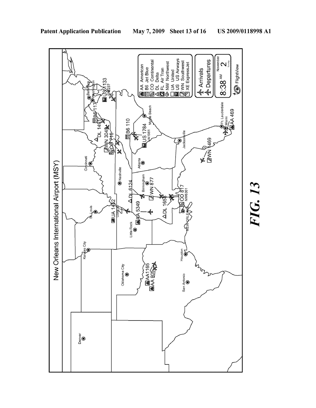 Flight Tracking Display Systems and Methods - diagram, schematic, and image 14