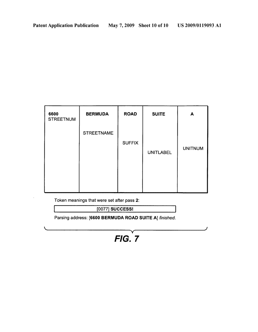 METHOD AND SYSTEM TO PARSE ADDRESSES USING A PROCESSING SYSTEM - diagram, schematic, and image 11