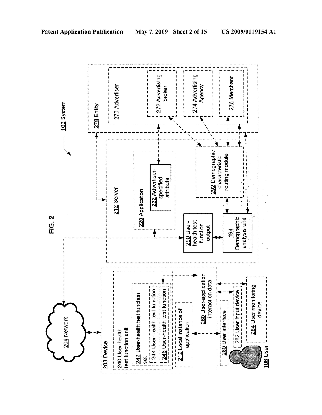 Determining a demographic characteristic based on computational user-health testing of a user interaction with advertiser-specified content - diagram, schematic, and image 03