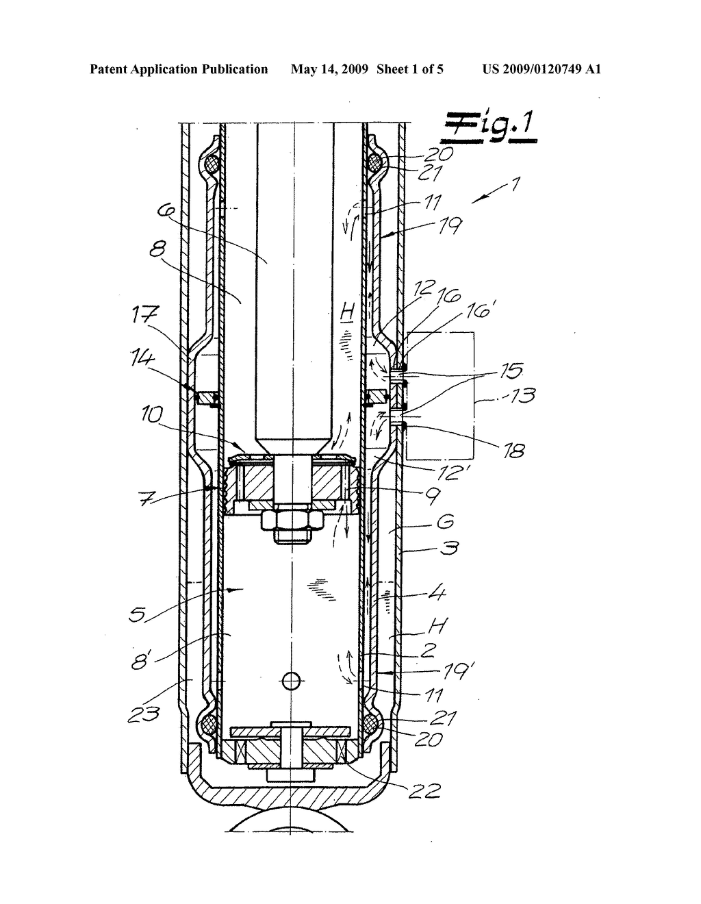 Vibration damper and method for the production of a three-pipe system for a vibration damper - diagram, schematic, and image 02