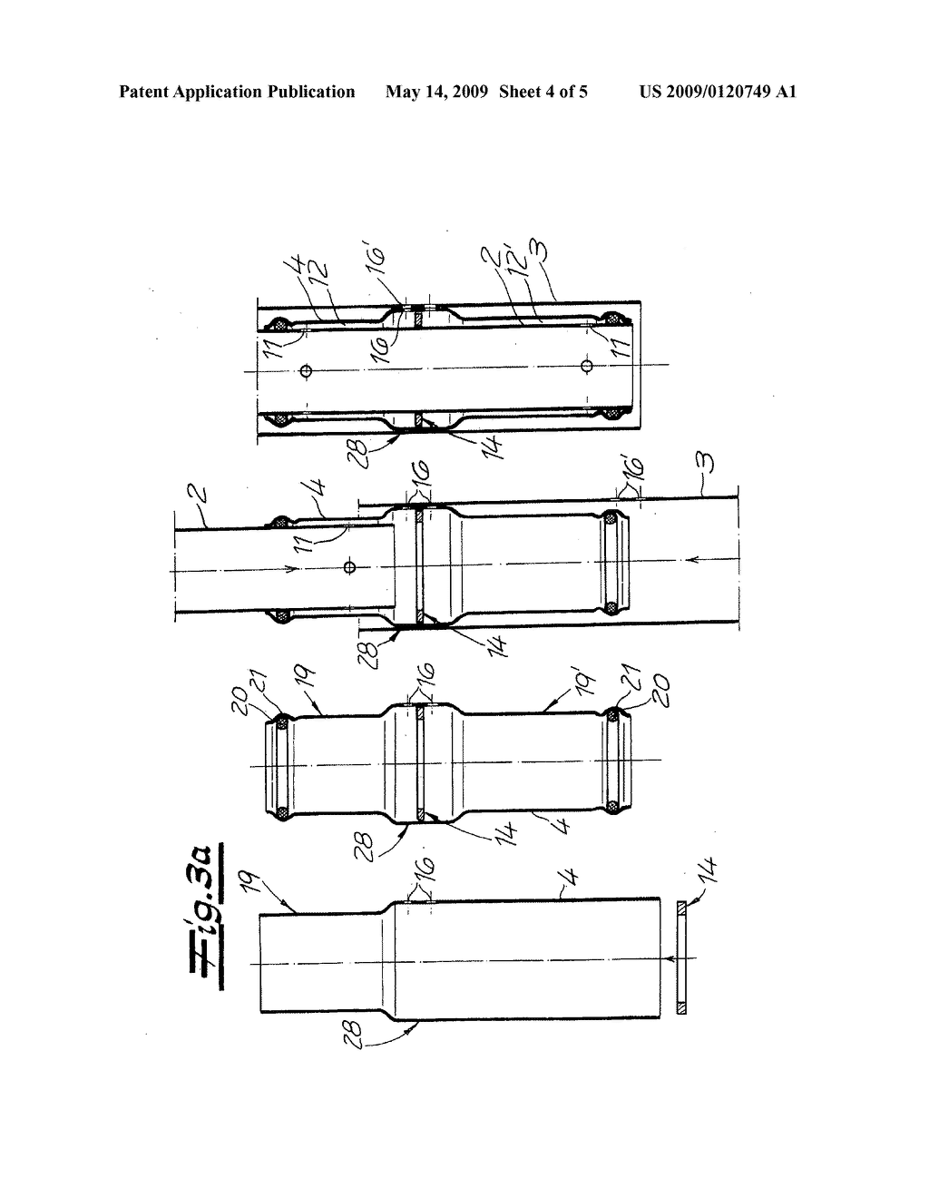 Vibration damper and method for the production of a three-pipe system for a vibration damper - diagram, schematic, and image 05