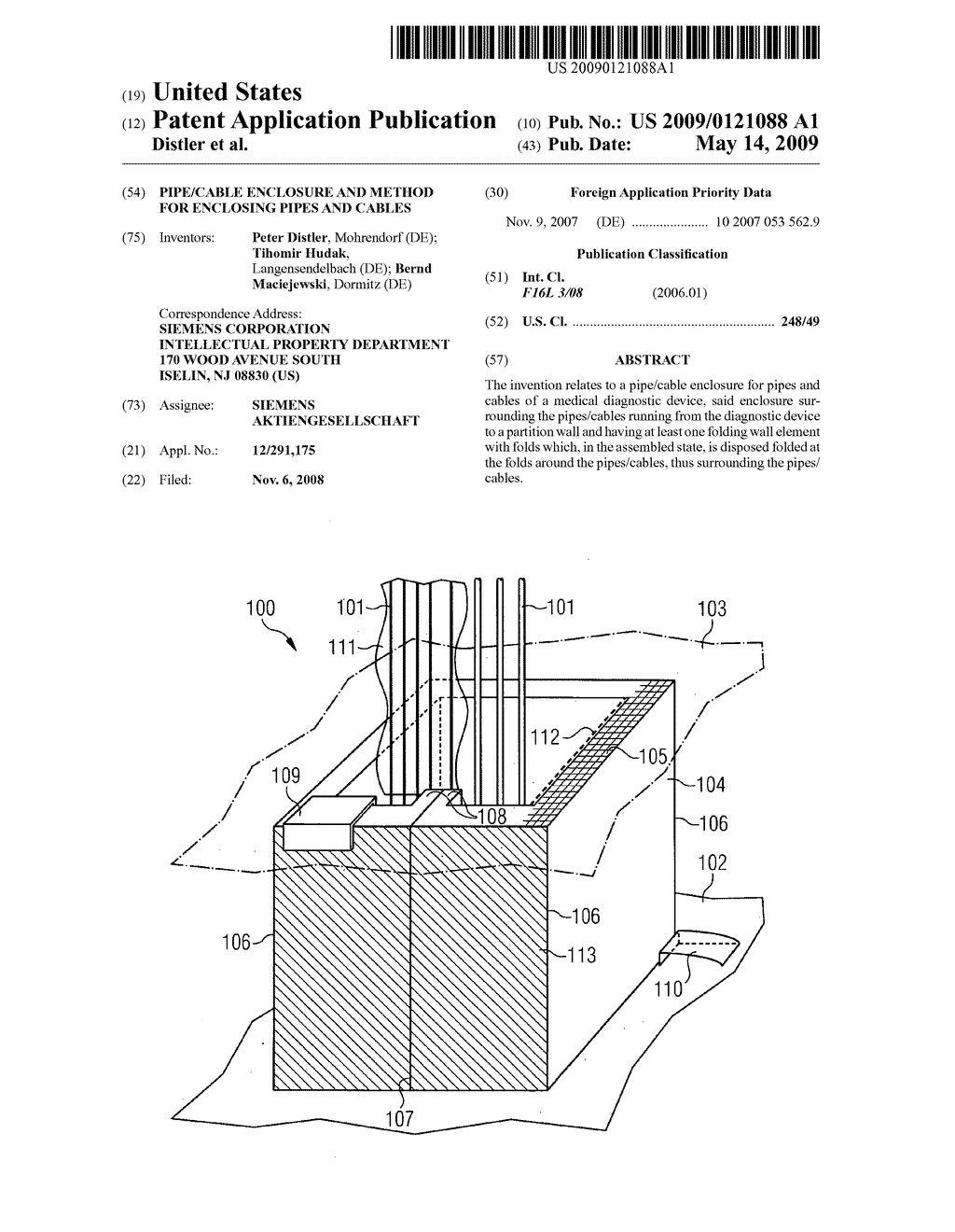 Pipe/cable enclosure and method for enclosing pipes and cables - diagram, schematic, and image 01