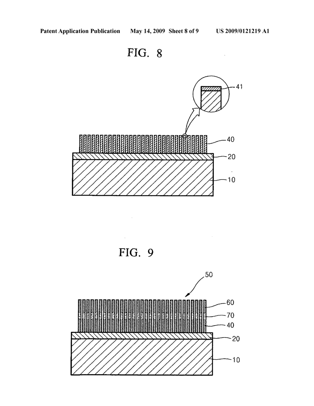Carbon nanotubes, method of growing the same, hybrid structure and method of growing the hybrid structure, and light emitting device - diagram, schematic, and image 09