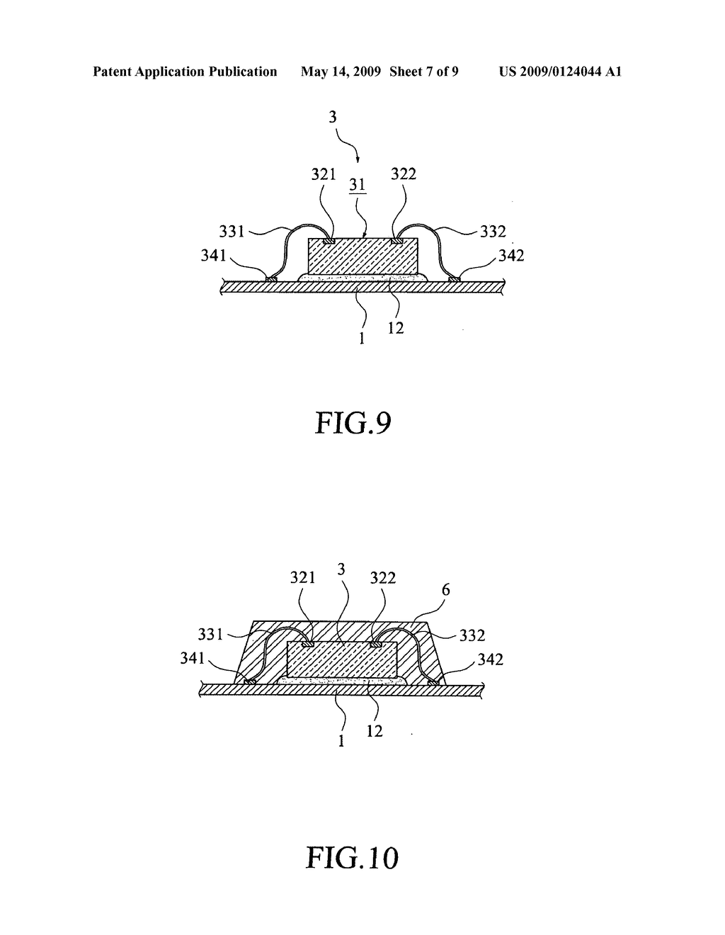 Method for removing bubbles from adhesive layer of semiconductor chip package - diagram, schematic, and image 08